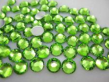 Light Green --  Resin Flatback Rhinestones High Quality 2 3 4 5 6 mm choose size