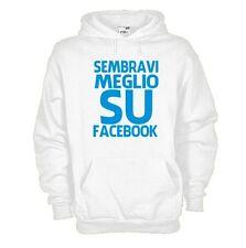 Felpa KG46 Facebook  Sembravi meglio su facebook, Ironic Felpa cappuccio