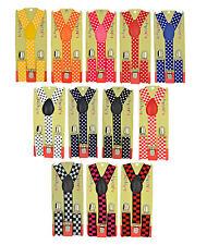 CUTE Baby Children Boys & Girls PolkaDot & Checkers Y-Back Elastic Suspenders 11