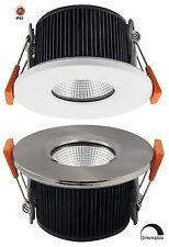 LED 6W Regulable fuego nominal empotrada de techo Downlight De Acero Inoxidable O Blanco