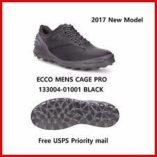 2017 New Ecco Mens Golf Shoes Cage Pro Black Spikeless Eu39 40 41 42 43 44 $230