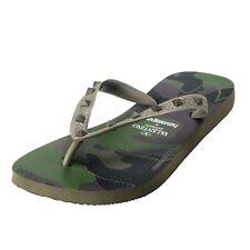 Valentino Garavani By Havaianas Men's Green Rockstud Camouflage Flip Flops Shoes