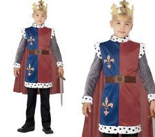 Boys King Arthur Costume World Book Day Medieval Knight Fancy Dress Age 4-12