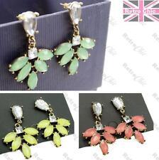 Verde De Jade Estrás Pendientes De Araña Estilo Vintage Chapado en Oro Rosa, Amarillo