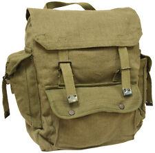 Mens Combat Military Rucksack Travel Back Pack Canvas Surplus Shoulder Bag Green