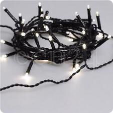 Guirlande LED blanc chaud avec câble noir