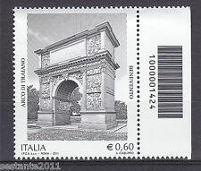 ITALIA 2011 ARCO DI TRAIANO BENEVENTO CODICE A BARRE 1424 MNH ** 147 LEGGI TESTO