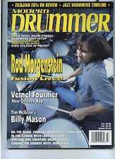 Modern Drummer Mar 1998 Rod Morgenstein  Billy Mason
