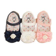 New Baby Girls Christening Shoes in White, Pink,Dark Blue  3 6 9 12 15 18 Months