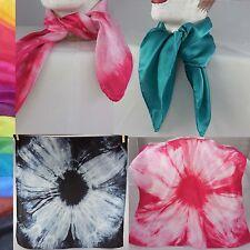 Satin Halstuch Nicki100% Seide Batik handgefärbt 55x55 cm