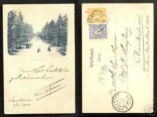 Soerabaia Pasar Besar Tram Java Indonesia 2 stamps 1899