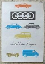 AUTO UNION DKW RANGE Sales Brochure c1959 #WB1877 SEDAN Coupe 1000 2 SEATER Van