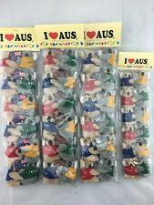 36pc Australia Souvenir Koala Clip-on W/Flag  Boomerang Keyring Suction hook