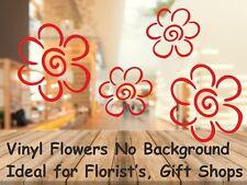 Calcomanías de ventana de Flor de vinilo de 18 para el dia de la madre o cualquier ventana de visualización floristería,