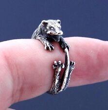 Opossum Ring, Possum Ring, Sterling Silver Ring, Animal Ring, Handmade Best Gift