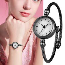 Ladies Simple Bracelet Watch Stainless Steel Band Quartz Bangle Wristwatch