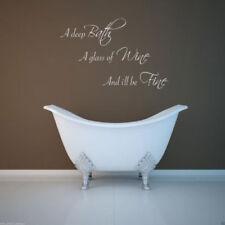 baño Drink Wine de Etiqueta Engomada La Pared Arte Pegatina para Letras