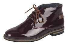 Rieker BOTAS MUJER 50630 Botines zapatos, Zapatillas Bordo NUEVO
