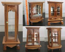 Small Vintage Cabinet Teak Wood Thai Carved Handmade Craft Cupboard Furniture
