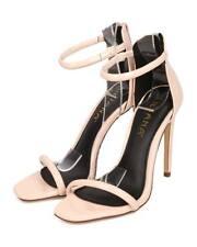 New Women Liliana Angelica-1 Patent Open Toe Minimal Stiletto Single Sole Sandal