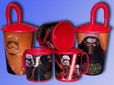 Star Wars Recipiente bebida o Taza, Vaso con Cubierta y Trinklhalm, Taza niños