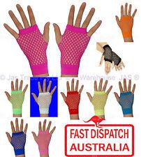 Punk Goth 80's 80s Costume Party Lace Fingerless Fishnet Dance Disco Cuff glove