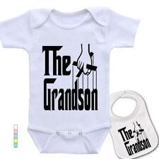 """"""" The Grandson """"Custom godfather movie Theme Baby bodysuit & matching Bib set"""