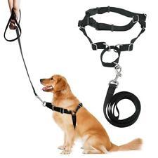 Heavy Duty Nylon Front Leading No Pull Dog Harness Walk Collar & Lead Leash Set