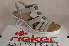 Rieker señora sandalia, sandalias sandalias gris suave suela interior, v6548 nuevo!!!