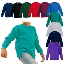 NEU - Fruit of the Loom - Classic Raglan Sweat Kids - Kinder Raglan Sweater