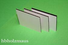 (65,99€/m²) DIBOND® Alu-Verbundplatte weiss matt - 6 mm, Zuschnitt Größe wählbar