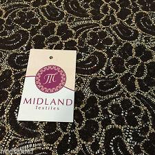 Marron avec dentelle crochet floral paillettes et paillettes deux way stretch m71-1 Mtex