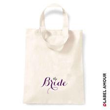 Wedding Hen Do Party Favour Keepsake Loot Gift Canvas Tote Bag Bridesmaid Bride