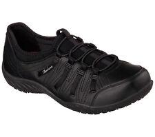 76578 Skechers Women's Work: Rodessa SR Relaxed Fit Slip On Shoes BlackBLK