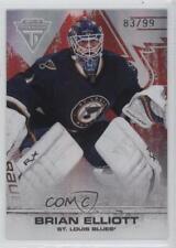 2011 Panini Titanium Spectrum Ruby #10 Brian Elliott St. Louis Blues Hockey Card