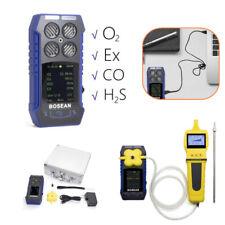 4 in 1 Gas Detector CO O2 H2S EX Monitor Mete / Gas Self Sampling External Pump