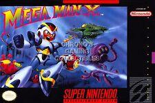 RGC Huge Poster - Mega Man X Super Nintendo SNES BOX ART X1 X2 X3 - MMA008