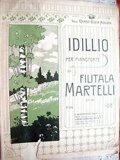 1909 SPARTITO MUSICALE AUTOGRAFO FILITALA MARTELLI PIANISTA COMPOSITRICE BOLOGNA