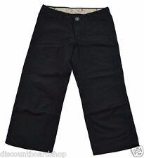 Split TAKE A WALK Black Pockets Cotton Junior's Capri Pants
