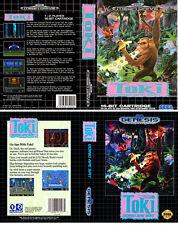 Toki Going Ape Spit UK US Sega Megadrive Replacement Box Art Sleeves Insert Case