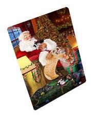 Santa Sleeping with Cymric Cats Christmas Cutting Board C62889