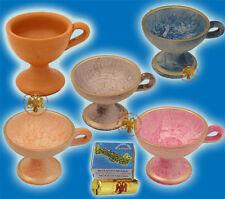 Incense Burner Ceramic in Various Colours & FREE Roll of Coal + Incense Sample