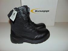 "Knapp Men's 8"" Tactical Boot Side Zipper Shield Soft Toe Leather Nylon K8865 NEW"