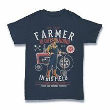 Farmer Tshirt funny tractor cartoon S-3XL