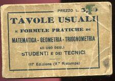 TAVOLE USUALI - MATEMATICA GEOMETRIA TRIGONOMETRIA