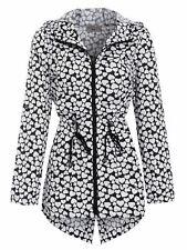 Womens Rain Mac Showerproof Raincoat Jacket Sizes 14 10 12 8 16 Hearts Coat