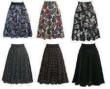 Röcke Damenrock Sommerrock Midi Tanzrock 50er Jahre Blumen Tanzkleid Knie lang
