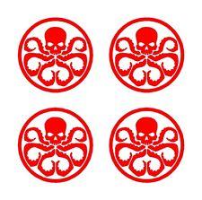 "4 Hydra Logo Marvel Symbol Vinyl Decals 2"" Stickers"