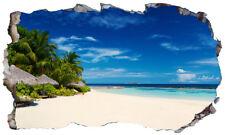 Maldivas playa Isla Tropical Magic Ventana Pared Arte Autoadhesivo Cartel V 2 *