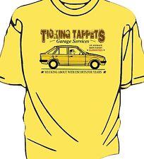 "Escort Mk3 ""Ticking Tappets Garage Services"" humour  t-shirt"